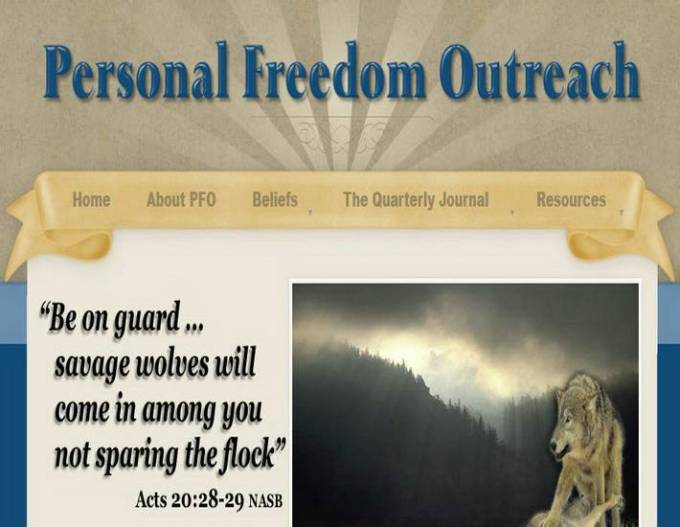Personal Freedom Outreach website