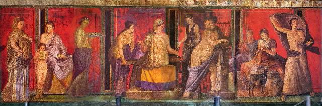 Fresco of Dionysian Cult