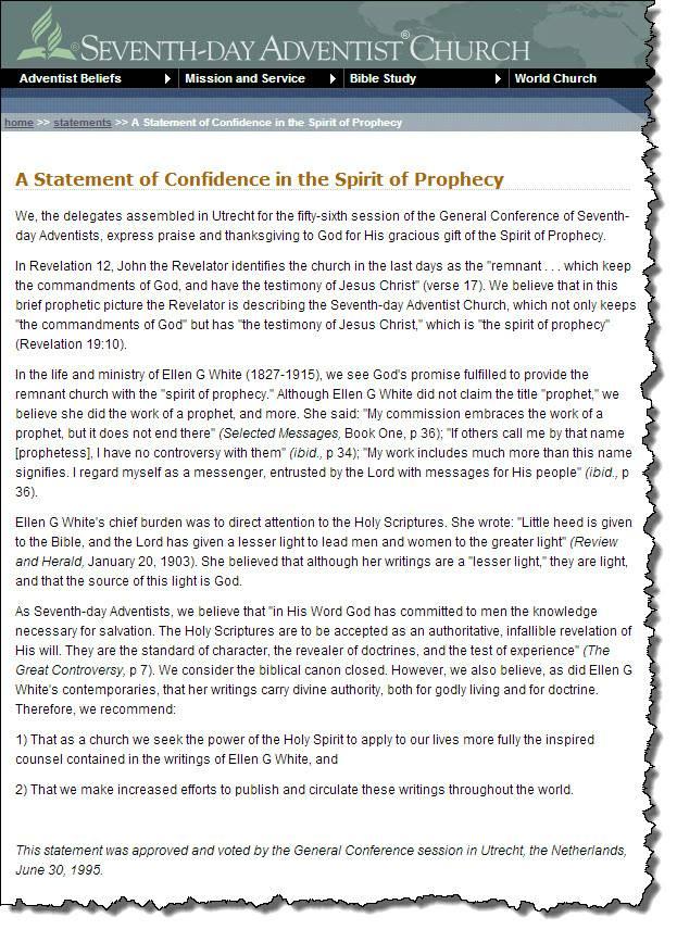 Seventh-day Adventist Church | Apologetics Index