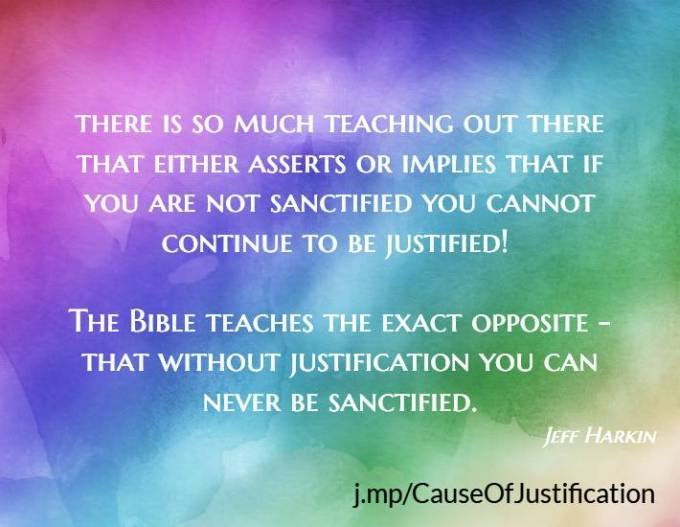 Sanctification and justification