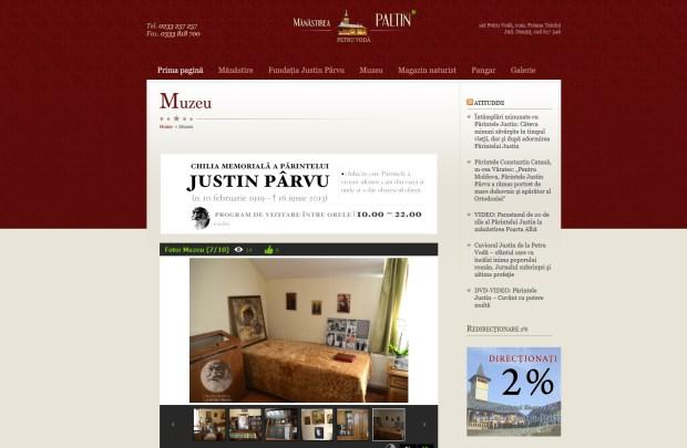 Chilia Muzeu Parintele Arhimandrit Justin Parvu