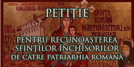 petitie patriarhie recunosterea sf. inchisorilor