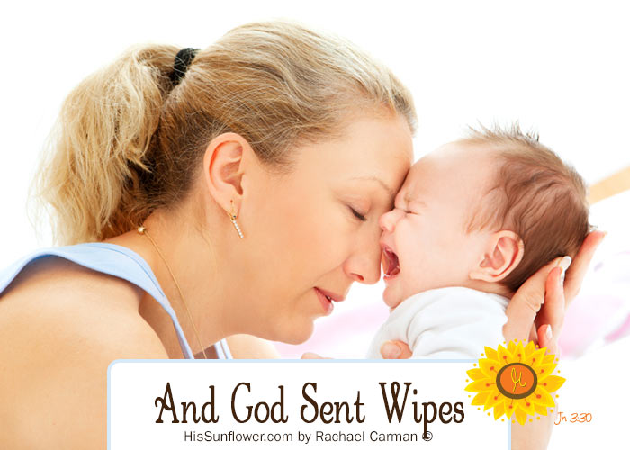 No matter how big your current request is, do not forget to be on the look out for wipes. He is there with you where ever you are and what ever your need, He knows all about it. HisSunflower.com by Rachael Carman