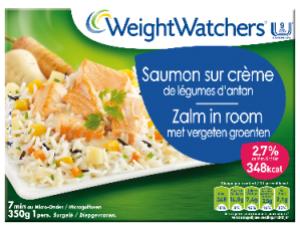 saumon sur crème weight watchers