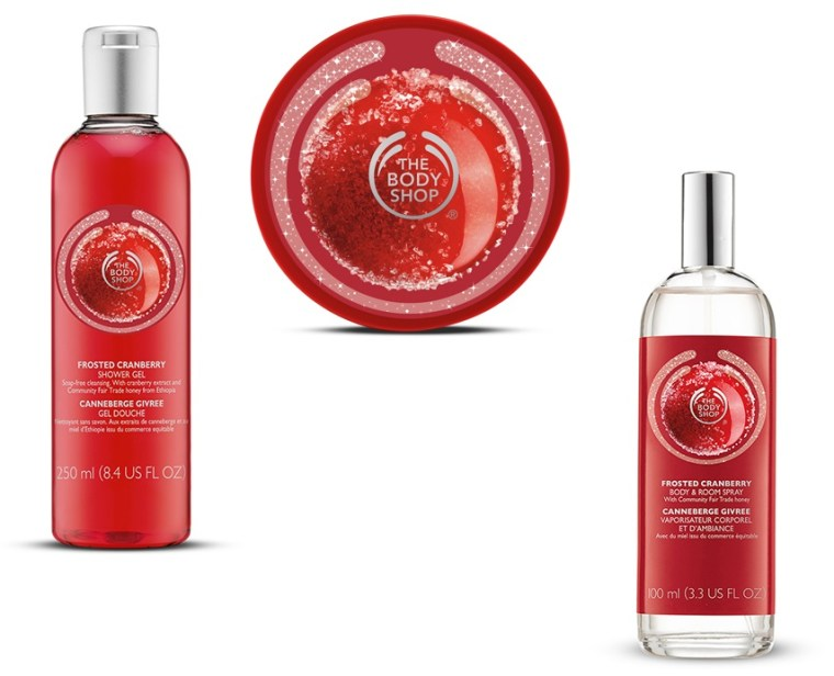 the body shop canneberge givrée