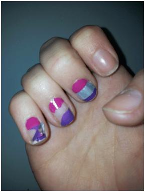 nail patch art problème argenté