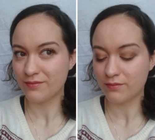 bronze maquillage réveillon