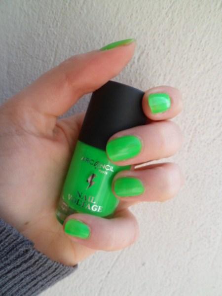 vernis vert néon arcancil fluo