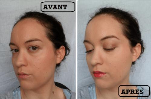 avant-après maquillage