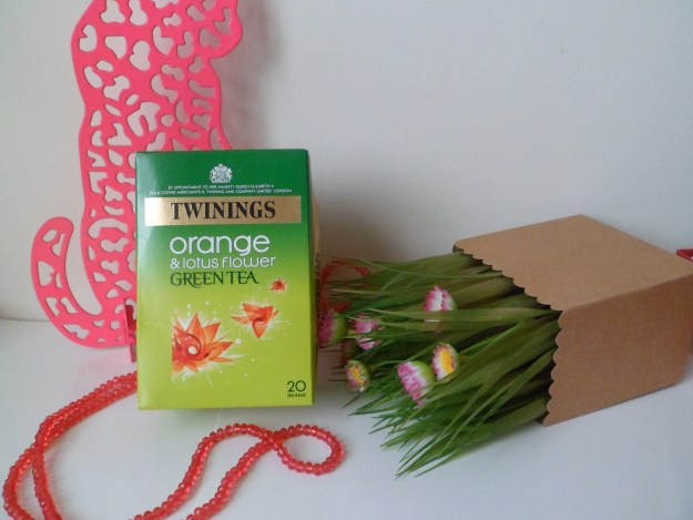 green tea twining orange fleur de lotus