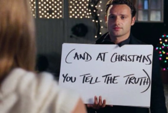 Image result for love actually at christmas you tell the truth