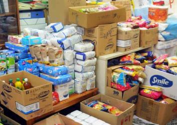 Διανομή τροφίμων στους απόρους της Αγίας Βαρβάρας Γόρτυνας