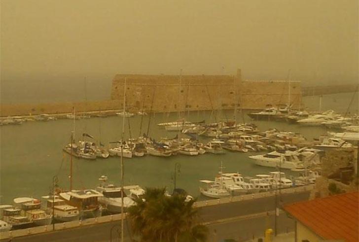 Νοτιάδες και αφρικανική σκόνη σήμερα στην Κρήτη
