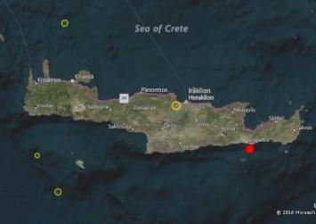 """""""Κουνήθηκε"""" η νότια Κρήτη χθες βράδυ"""