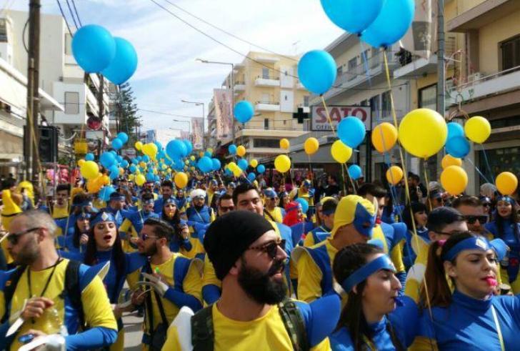 Κέφι και χιλιάδες κόσμου στο Ρεθυμνιώτικο Καρναβάλι (φώτο-βιντεο)