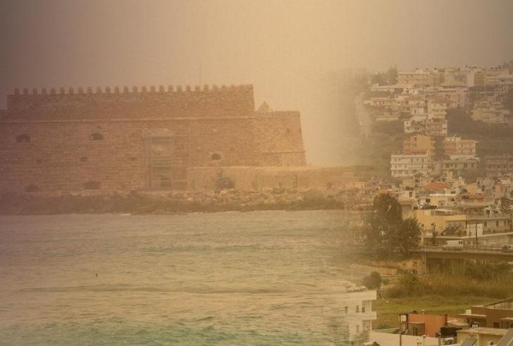Σκόνη, νοτιάδες και μποφόρ στην Κρήτη
