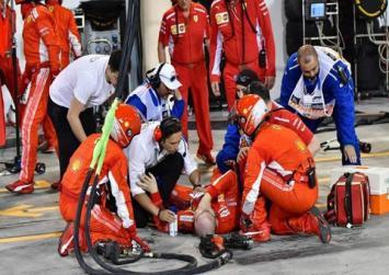 """Σοβαρός τραυματισμός μηχανικού της Ferarri, τον """"πάτησε"""" ο Ραϊκόνεν"""