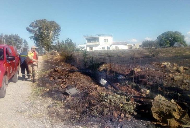 Κάηκε ένα στρέμμα γης στα Βορίζα