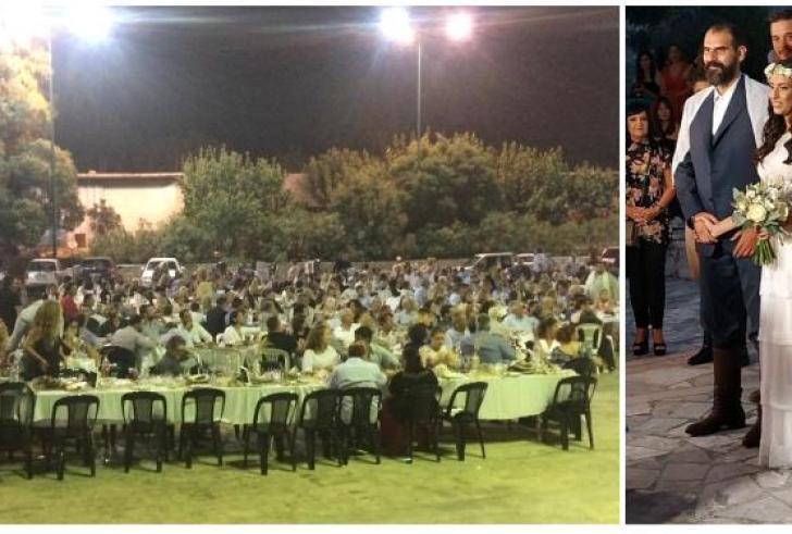 Ασή Γωνιά : «Βούλιαξε» από κόσμο το χωριό για το γάμο του Μπικάκη! ( φωτό )