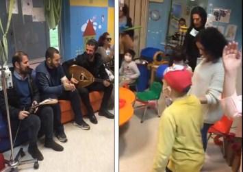 Τα Στρατάκια βρέθηκαν στο ΠΑΓΝΗ και τραγούδησαν στα παιδάκια με καρκίνο