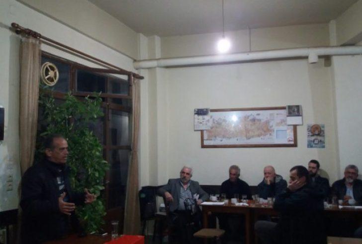 Πολιτική συγκέντρωση της ΚΟ Ηρακλείου του ΚΚΕ στη Γέργερη