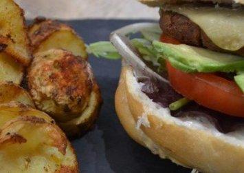Vegan burger χωρίς γλουτένη