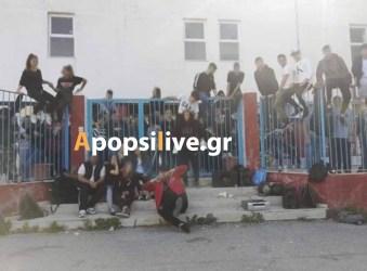 Συνεχίζουν την κατάληψη οι μαθητές του Λυκείου Τυμπακίου (φώτο)