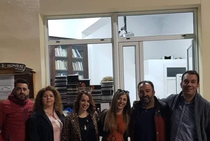 Με επιτυχία τα εγκαίνια της Βιβλιοθήκης του Πολιτιστικού Συλλόγου Πόμπιας (φώτο)
