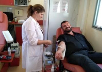 Εθελοντής αιμοδότης ο νέος δήμαρχος Γόρτυνας (φώτο)