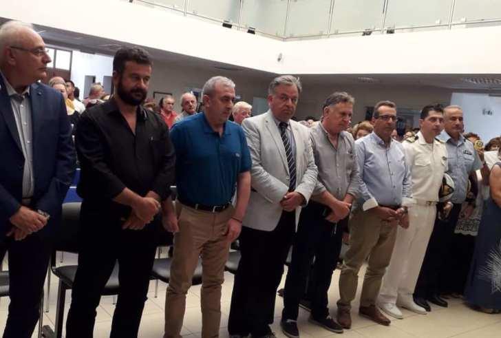 Ο Μιχάλης Κοκολάκης στην ορκωμοσία του νέου Δημάρχου Βιάννου Μηνά Σταυρακάκη