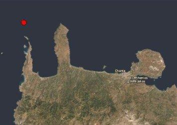 Μεταμεσονύχτιος σεισμός βόρεια του νομού Χανίων