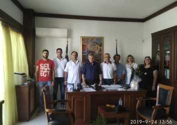 """Συνάντηση του Συλλόγου Εκπαιδευτικών """"ΦΑΙΣΤΟΣ"""" με τον Δήμαρχο Φαιστού"""