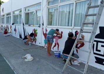 Η Street Painting Team μεταμόρφωσε το Δημοτικό Σχολείο Πιτσιδίων (φώτο)
