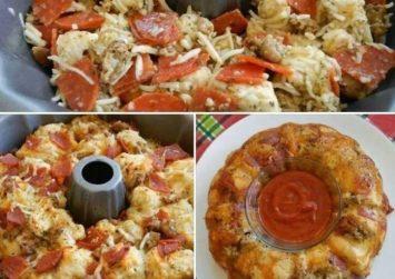 Συνταγή για παιδικό πάρτι : Aλμυρo κέικ με γεύση pizza