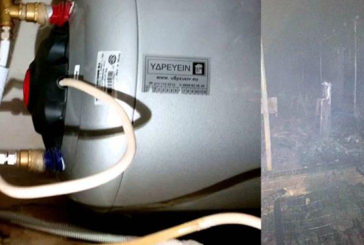 Κρήτη: Καμμένη αποθήκη από κεραυνό τη νύχτα, εγκλωβισμός οδηγού, έσκασε θερμοσίφωνας σε διαμέρισμα