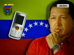 Chavez via telefonica