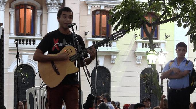 Artistas  declararon con su canto el apoyo a los sufridos de GAZA