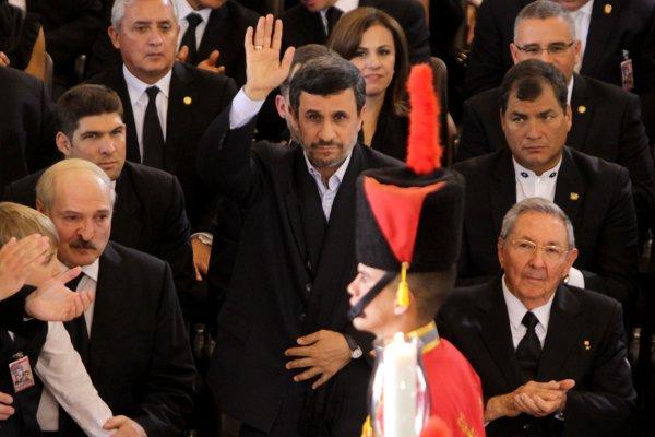 Jefes de estado en el funeral de Chávez