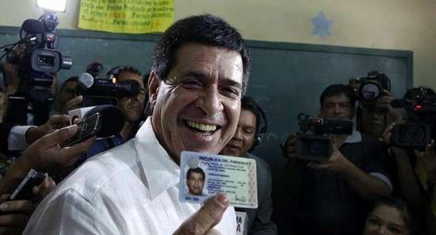 el candidato del Partido Colorado, Horacio Cartes, es el nuevo presidente de Paraguay