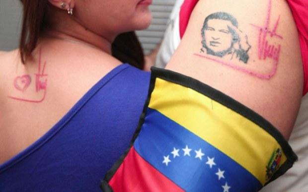 Tatuajes de la firma del Líder Supremo, Hugo Chávez Frías