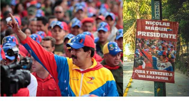 Falsos afiches de Maduro
