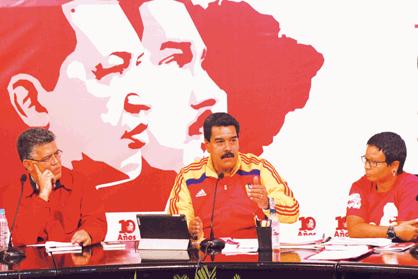 Presidente Maduro en el acto con el Frente Francisco de Miranda en Caracas