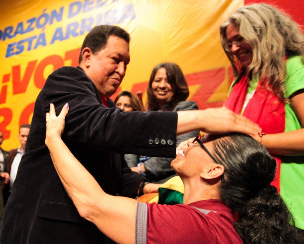 Encuentro de las mujeres con Chávez