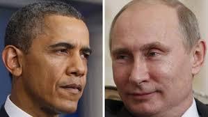 El presidente de EEUU, Barack Obama y el presidente de Rusia, Vladimir Putin