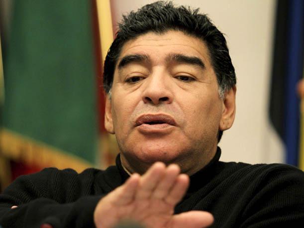 El astro del fútbol, Diego Armando Maradona en el Mundial de Fútbol Brasil 2014