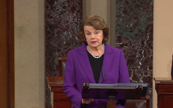 La presidenta del Comité de Inteligencia del Senado, Dianne Feinstein.