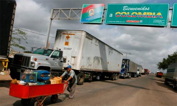 Transporte de carga en la frontera colombo venezolana