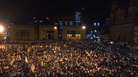 Marcha por la paz en Bogotá