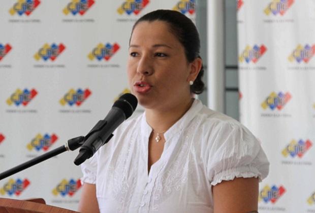 La rectora del CNE, Tania D´amelio