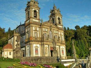 The now-Basilica of the Bom Jesus do Monte sanctuary